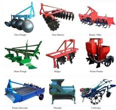 The farming equipments used in India and their purpose